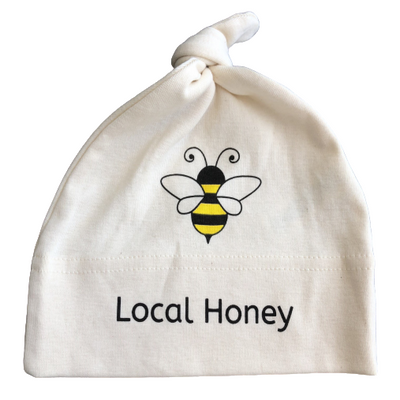 Organic cotton baby hat - Honeybee