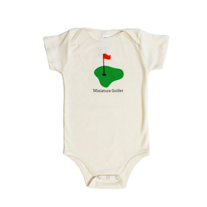 Organic cotton baby onesie - Golf - Simply Chickie