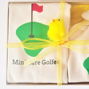 Organic cotton baby gift set - Golf - Simply Chickie