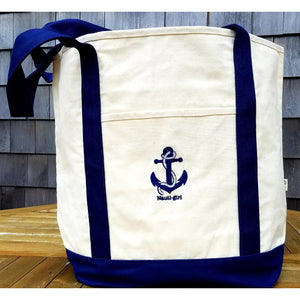 Nauti-Girl Tote Bag - Navy Blue