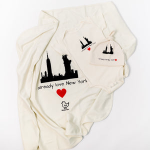Organic cotton baby gift set - New York - Simply Chickie