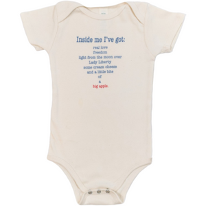 Organic cotton baby onesie - New York