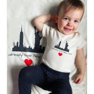 Organic cotton baby onesie - New York PLEASE NOTE. This design is also available in kid t-shirts: 2T, 4T, 6T