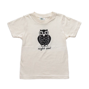 Organic cotton kids t-shirt - Owl - Simply Chickie