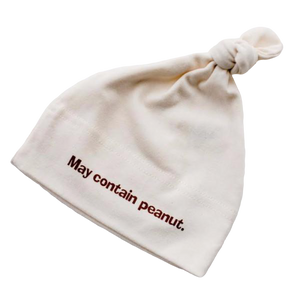 Organic cotton baby hat - Peanut