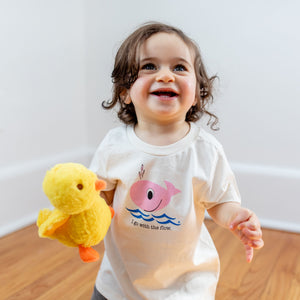 Organic cotton kids t-shirt - Pink Whale - Simply Chickie