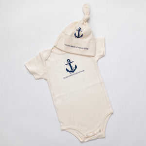 Gift set Anchor romper and hat