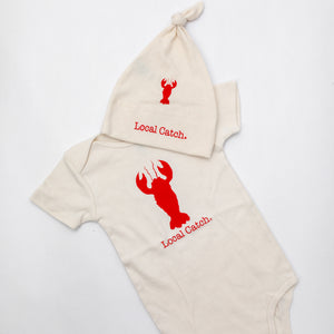 Gift set lobster romper and hat