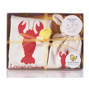Organic cotton baby gift set - Lobster - Simply Chickie