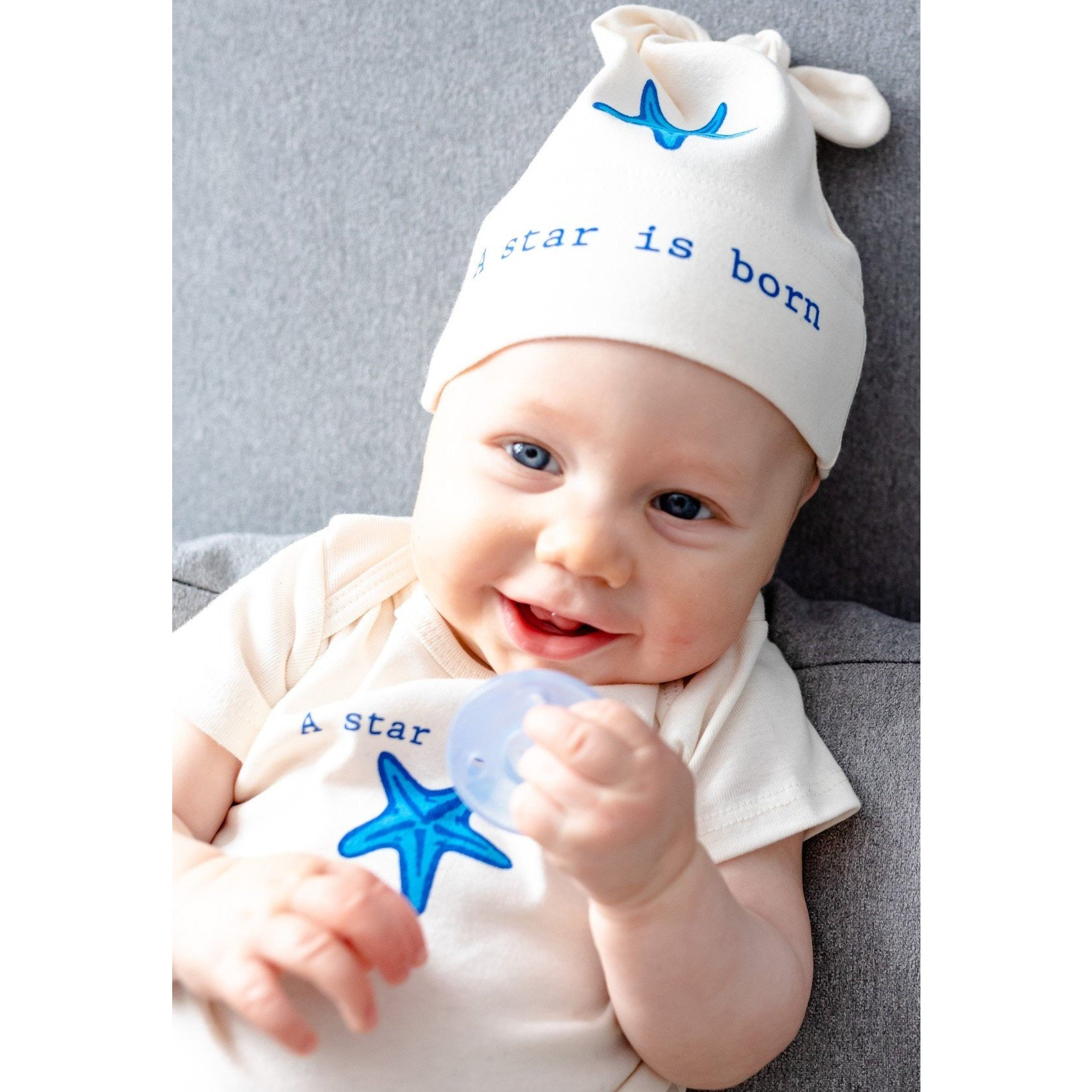 Organic cotton baby gift set - Starfish - Simply Chickie