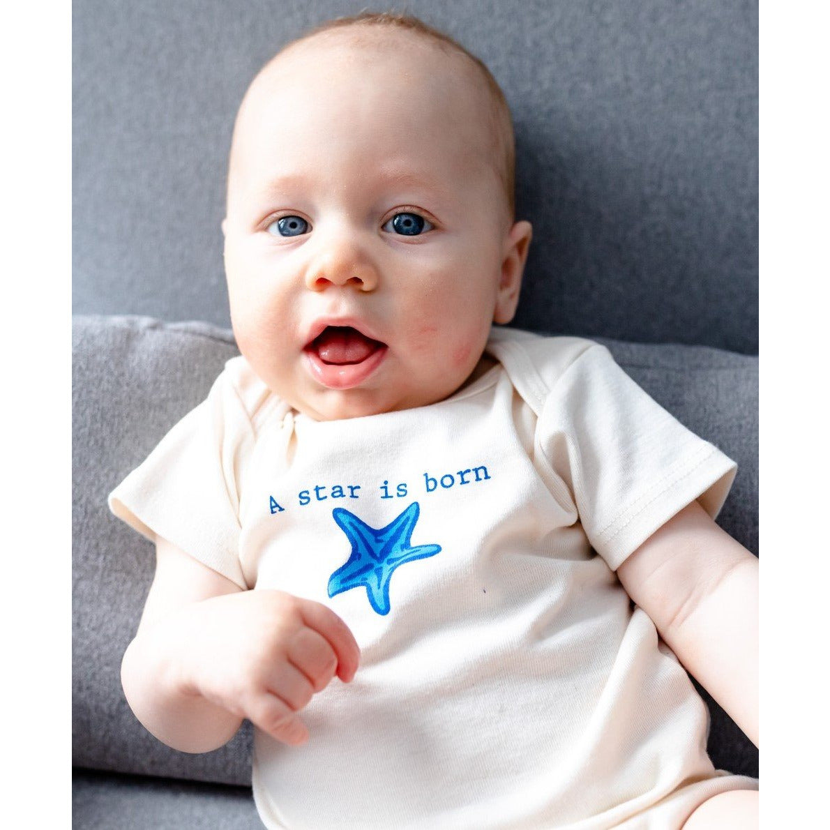 Organic cotton baby onesie - Starfish - Simply Chickie
