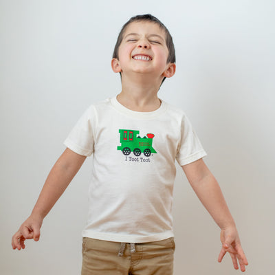 Organic cotton kids t-shirt - Train