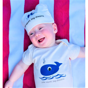 Organic cotton baby onesie - Whale - Simply Chickie