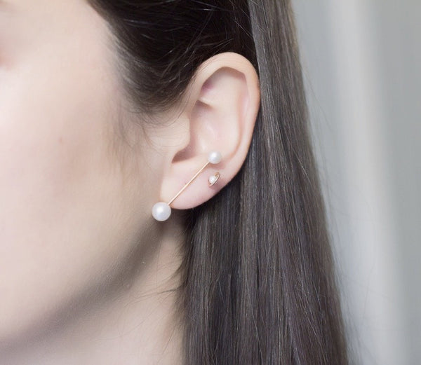 Grande Binary Pearl Earrings