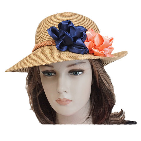 Beautiful women's summer hat front view