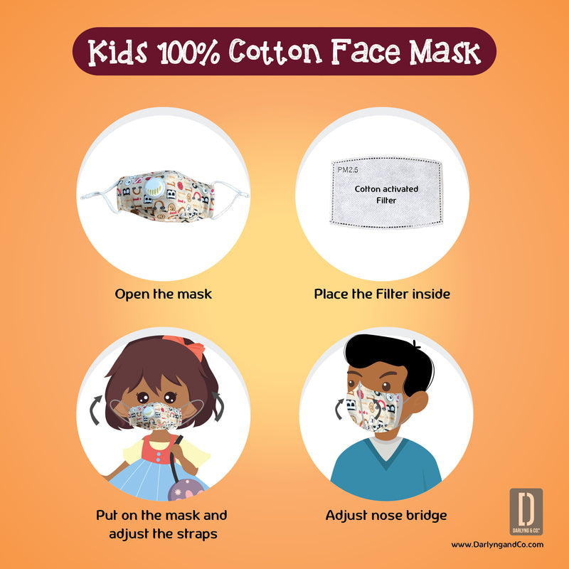Kids 100% Cotton Face Mask