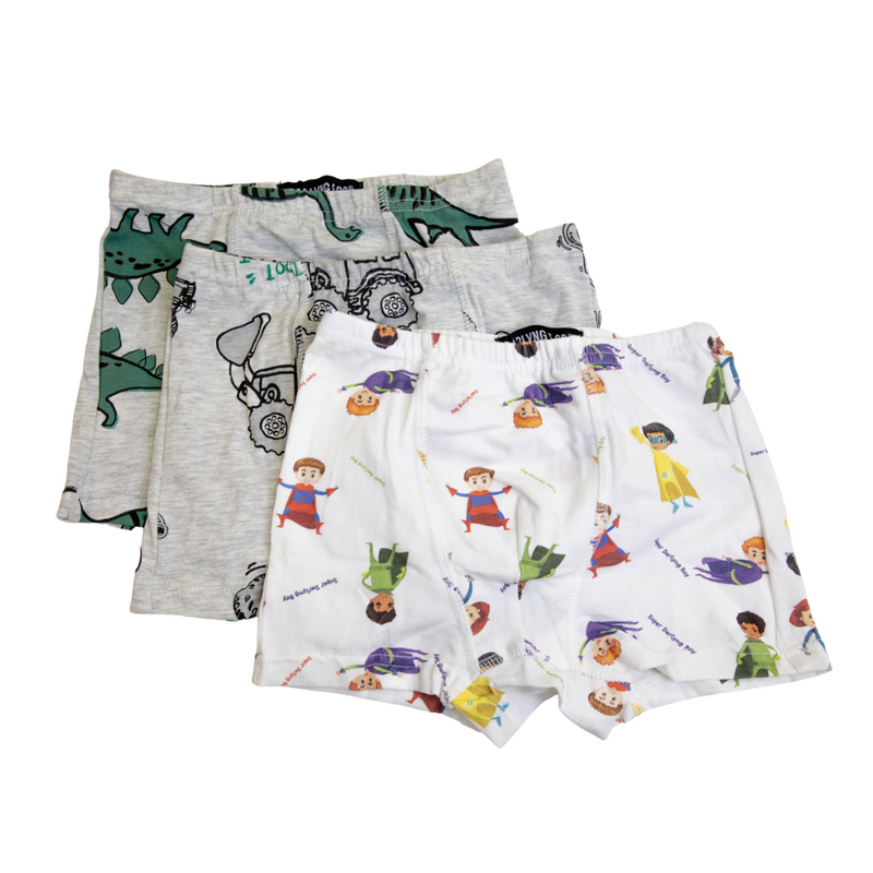 Boys Soft 100% Cotton Underwear (3 pack)