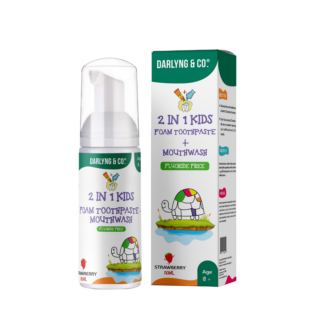 2-in-1 Kids Foam Toothpaste + Mouthwash