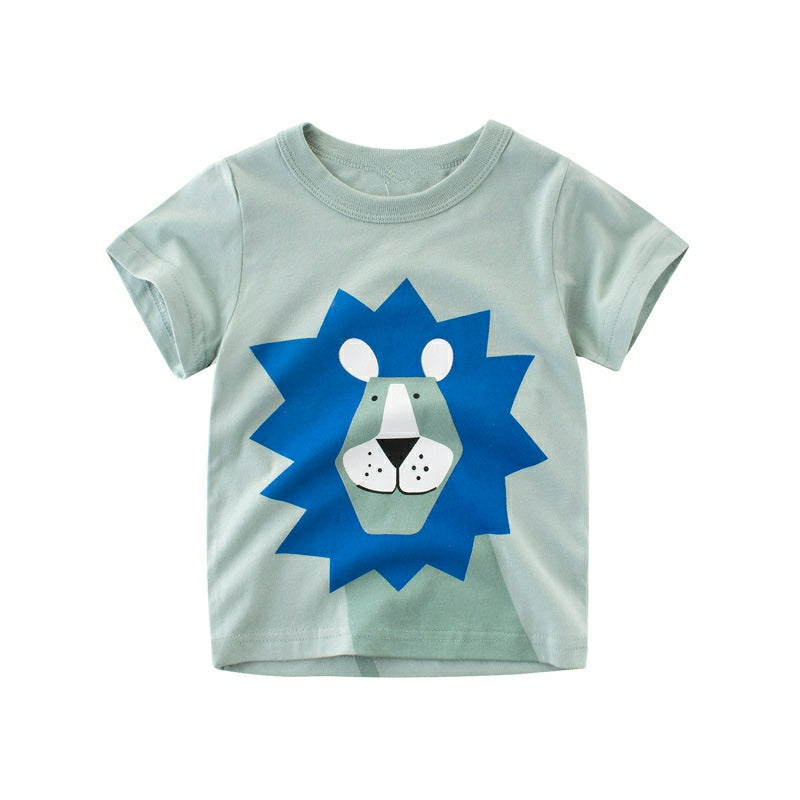 Blue Lion King Crew-Neck Short Sleeve Toddler T-Shirt