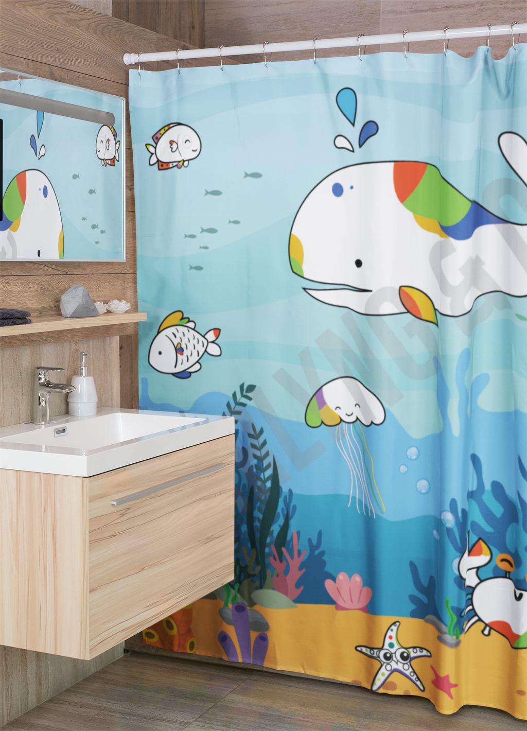 Sea Adventure Shower Curtain