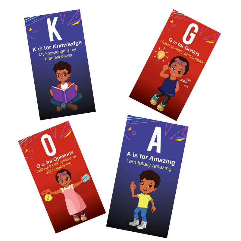 affirmation flash cards for black kids
