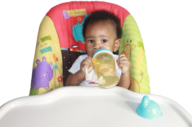 infant with antibacterial sippy cup