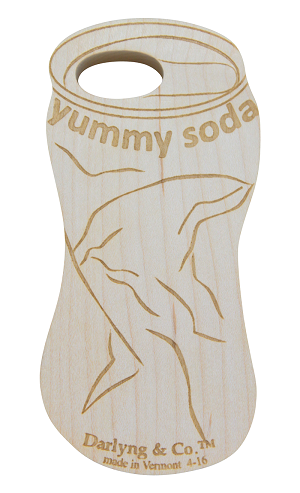 WOODEN TEETHER- soda can organic teether