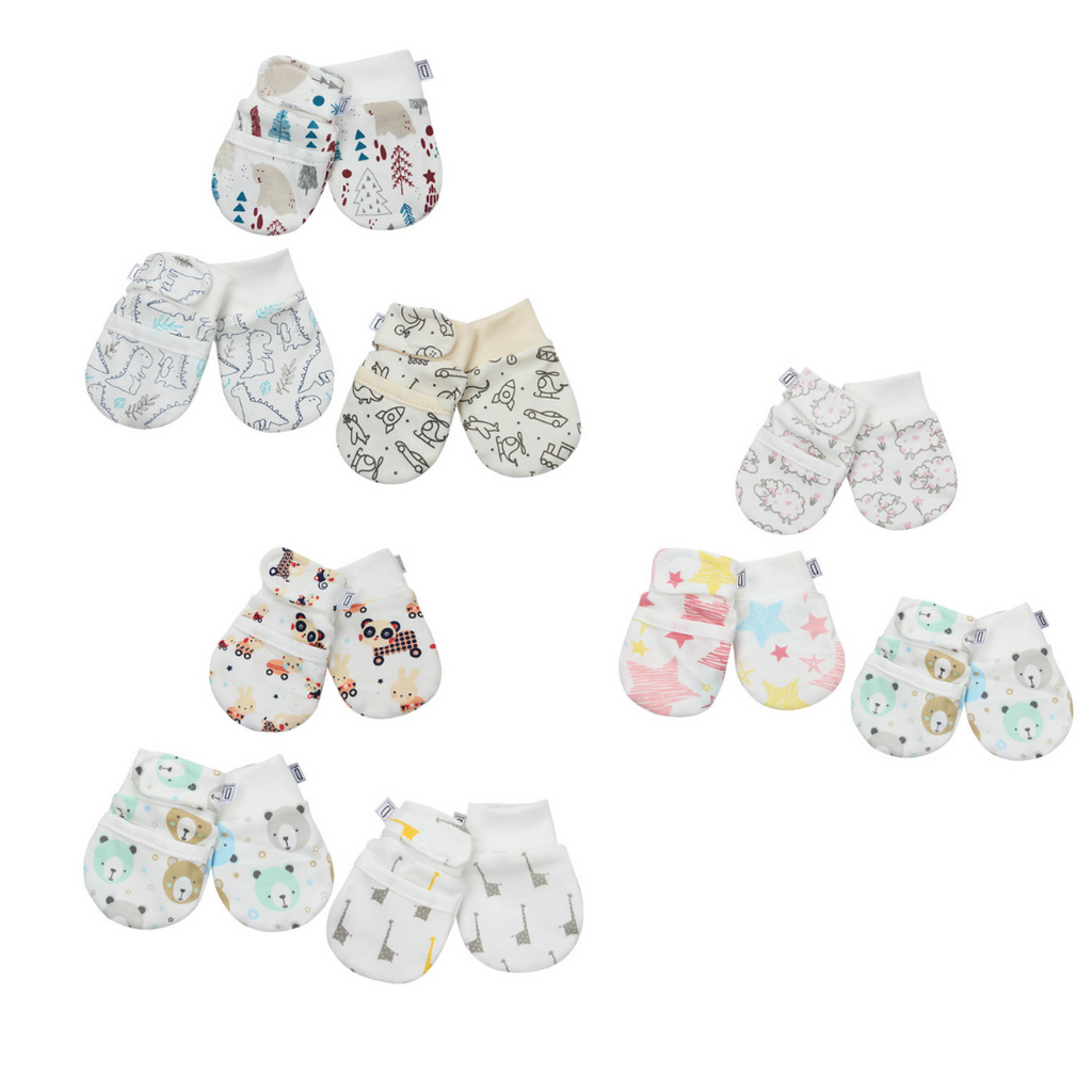 NEWBORN ANTI-SCRATCH STAY ON MITTENS