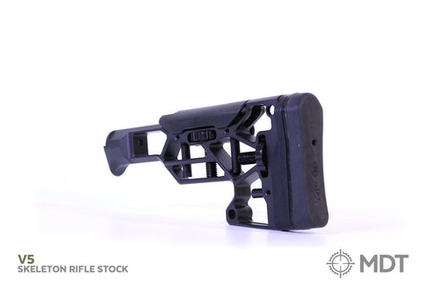 MDT AR15 Skeleton Rifle Butt Stock V5 with Adjustable Butt Pad and Cheek  Rest