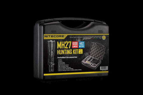 Nitecore MH27 Hunting Torch Flashlight Kit, Rechargeable, 1000 Lumens, 462m Range - Australian Tactical Precision