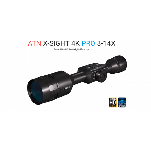 ATN X-Sight 4K PRO Smart Ultra HD 3-14x Day & Night Vision Rifle Scope - Australian Tactical Precision