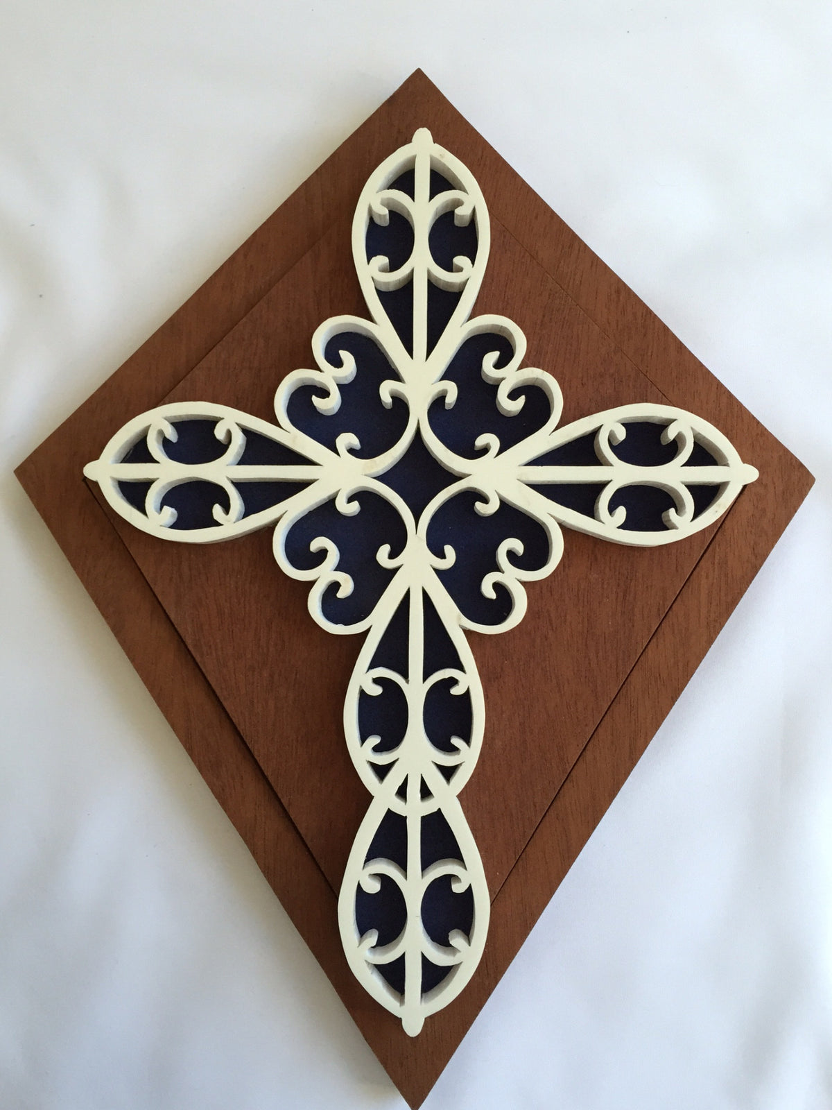 White Swirly Cross