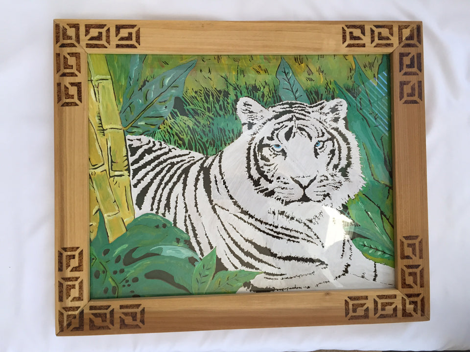 Striped Tiger (White)