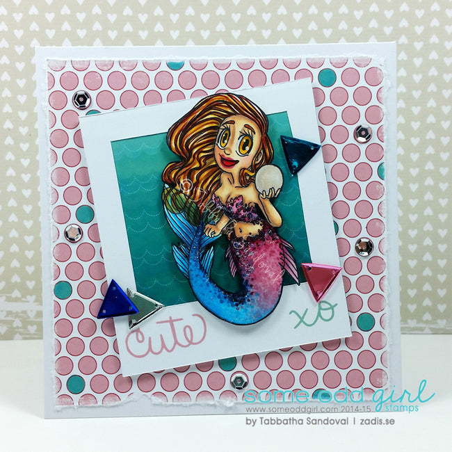 Pearl Mermaid Digi Stamp, SomeOddGirl - 8