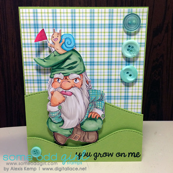 Gnome Mountain Digi Stamp