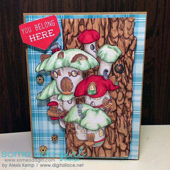 Gnome Town Digi Stamp