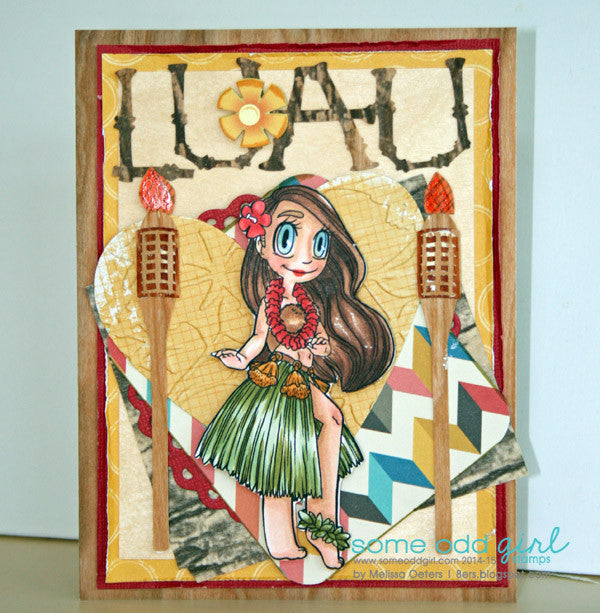 Hula Girl Mae Digi Stamp, SomeOddGirl - 4