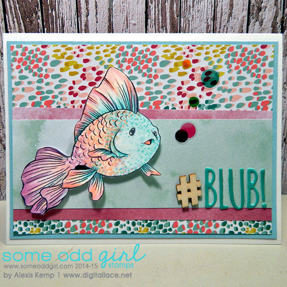 Angel Fish Digi Stamp, SomeOddGirl - 3