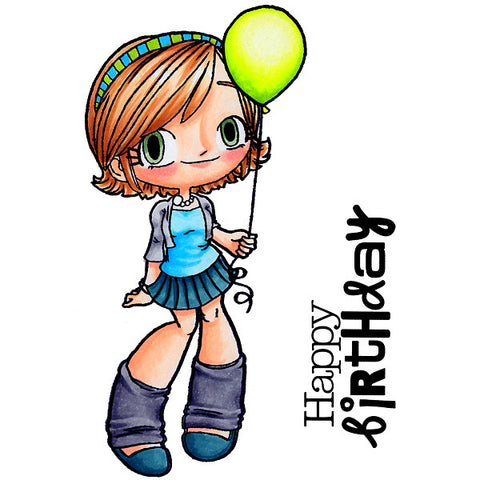 Balloon Kaylee Clear Stamp, SomeOddGirl - 1