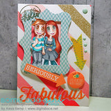 Girlfriends Kaylee & Mae Digi Stamp, SomeOddGirl - 2