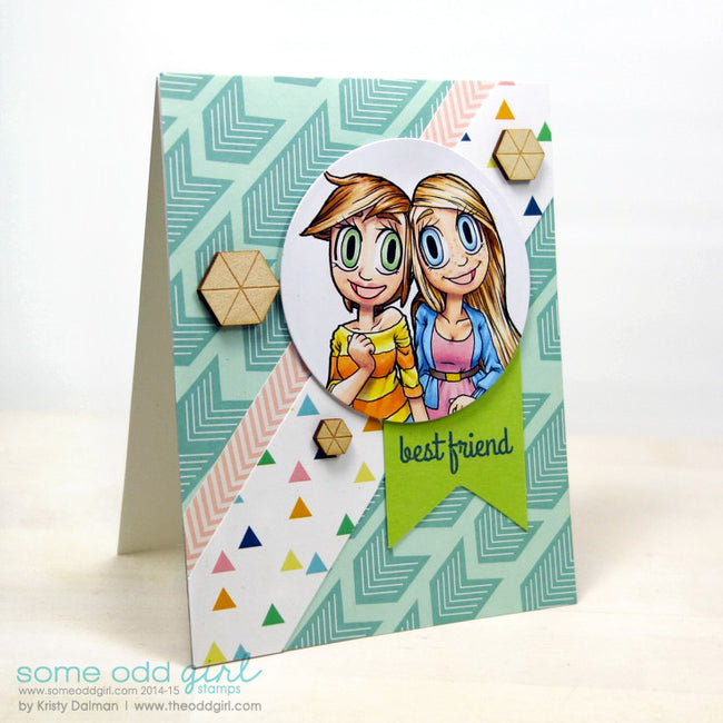Girlfriends Kaylee & Mae Digi Stamp, SomeOddGirl - 4
