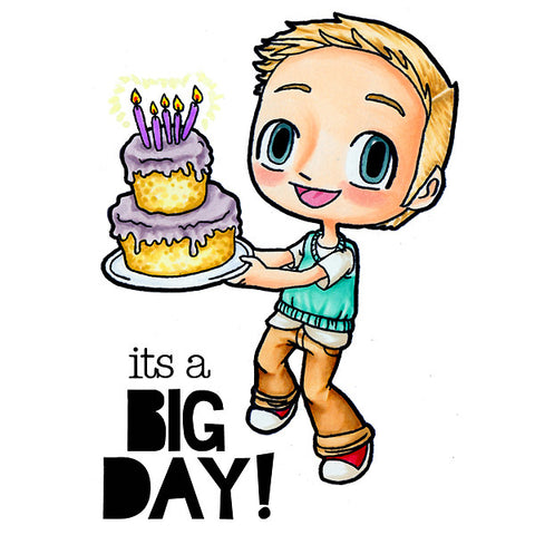 Big Day Tobie Clear Stamp, SomeOddGirl - 1