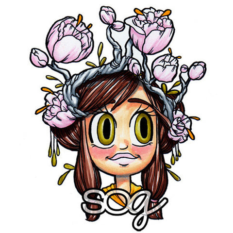 Blooming Digi Stamp, SomeOddGirl