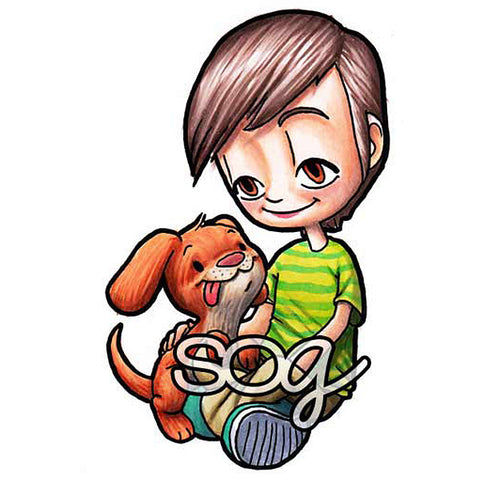 Boy's Best Friend Tobie Digi Stamp, SomeOddGirl - 1