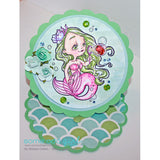Bubbles Mermaid Digi Stamp, SomeOddGirl - 2