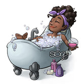 Bubble Bath Piper Digi Stamp