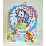 Bubbles Mermaid Digi Stamp