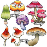 Build-a-Background: Mushrooms Digi Stamps