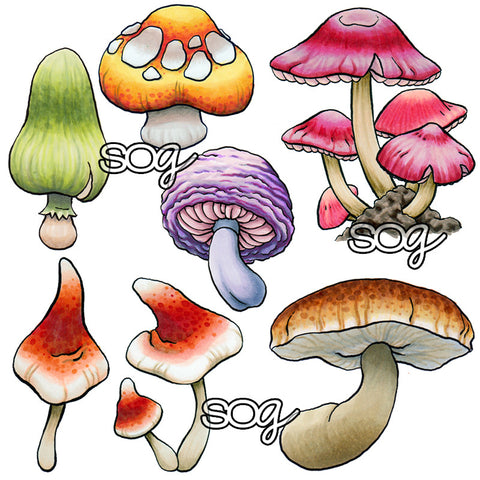 Build-a-Background: Mushrooms Digi Stamps, SomeOddGirl