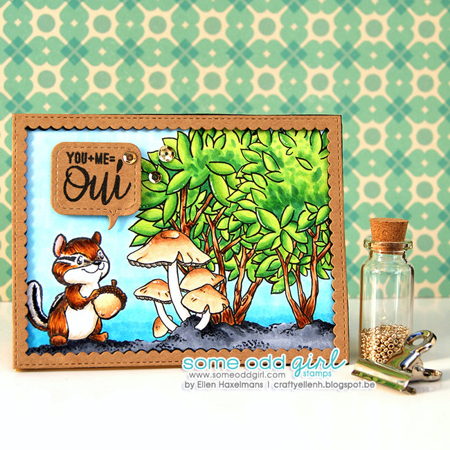 Build-a-Background: Bushes & Trees Digi Stamps
